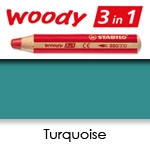 WATER SOLUBLE WAX PENCIL STABILO WOODY TURQUOISE SW880-470