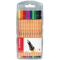 MARKER SET STABILO 88 10CT WALLET SW8810