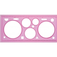 TEMPLATE DESIGN RULER CIRCLES 84823