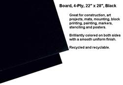 RAILROAD BOARD 22X28  BLACK 4PLY 100p 5481