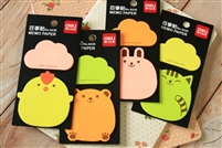 MEMO PAPER POST IT CUTE ANIMALS DELI 6439