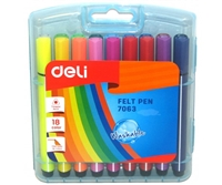 MARKER SET 18 WATER COLOR PEN DELI 07063