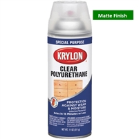 SPRAY CLEAR POLYURETHANE SATIN 11OZ KR7006-DISC