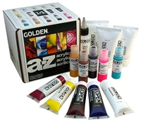 GOLDEN ACRYLIC SET A-Z STARTER 14 SET GD962-0