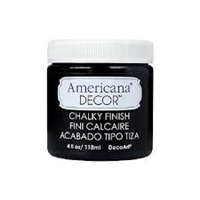 AMER CHALK PAINT 4OZ CARBON BLACK DPADC29-96