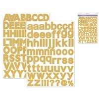 STICKERS ALPHABET 1 3/16 INCH GOLD MQPC570C