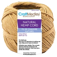 HEMP CORD 20LB/1MM 50G 200FT MQCC801