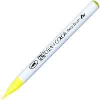PEN BRUSH TIP ZIG REAL BRUSH FLUORESCENT YELLOW ZGRB6000AT01