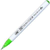 PEN BRUSH TIP KURETAKE ZIG REAL BRUSH FLUORESCENT GREEN ZGRB6000AT04