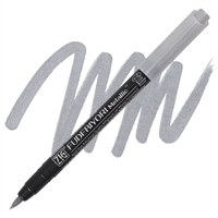 BRUSH PEN ZIG FUDEBIYORI METALLIC SILVER ZGCBK55MT102