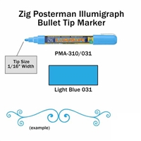 MARKER CHALK PAINT ILLUMIGRAPH LIGHT BLUE ZIG 2MM ZGPMA-310031