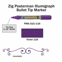 MARKER CHALK PAINT ILLUMIGRAPH VIOLET ZIG 2MM ZGPMA-310116