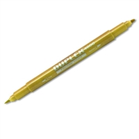 BRUSH PEN DUPLEX 4000 GOLD TWIN 00303