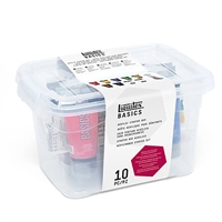 ACRYLIC SET LIQUITEX BASICS ACRYLIC STARTER BOX 10PC LQ3699303