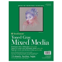 MIXED MEDIA PAD 400 TONED GRAY 9x12 15SH SM462-309