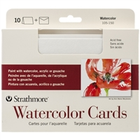 WATERCOLOR CARDS & ENVELOPES 5x6.8 inches 10Pack STRATHMORE 105-150
