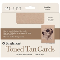CARDS AND ENVELOPES TONED TAN 5 X 6.875 10PACK 105-468-disc
