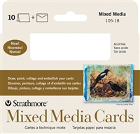 MIXED MEDIA CARDS STRATHMORE - 3.5 x 4.8 - 10PK SM105-18
