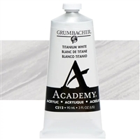 GRUMBACHER ACRYLIC TITANIUM WHITE 90ML C212