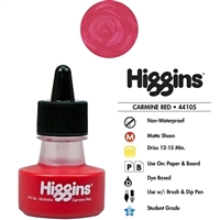INK HIGGINS NON- WATERPROOF DYE BASED RED 1OZ 44104