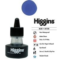INK HIGGINS NON- WATERPROOF DYE BASED BLUE 1OZ 44108