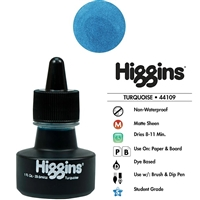 INK HIGGINS NON- WATERPROOF DYE BASED TURQOUISE  1oz 44109