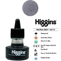INK HIGGINS WATERPROOF DYE BASED NEUTRAL GREY 1OZ 44112