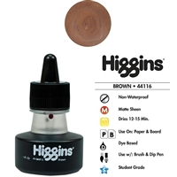 INK HIGGINS NON- WATERPROOF DYE BASED BROWN 1OZ44116