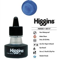 INK HIGGINS NON- WATERPROOF DYE BASED INDIGO 1OZ 44117