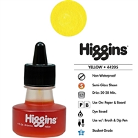 INK HIGGINS NON- WATERPROOF DYE BASED YELLOW 1OZ 44205