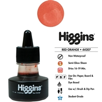 INK HIGGINS NON- WATERPROOF DYE BASED RED ORANGE 1oz 44207
