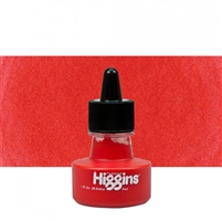 INK HIGGINS WATERPROOF PIGMENTED RED 1oz 44645