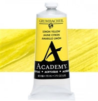 GRUMBACHER ACRYLIC LEMON YELLOW 90ML C118