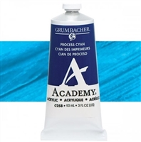 GRUMBACHER ACRYLIC PROCESS CYAN 90ML C258