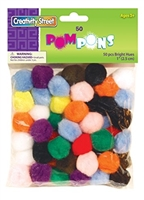 POMS BRIGHT HUES 1 INCHES 50PK CE8113-01
