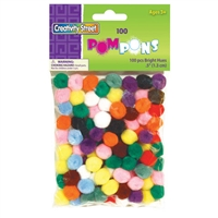 POMS BRIGHT HUES 0.5 INCHES 100PK CE8114-01