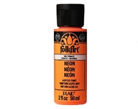 NEON PAINT ORANGE 2 OZ FOLK ART 2852
