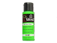 NEON PAINT GREEN 2 OZ FOLK ART 2854