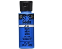 NEON PAINT BLUE 2 OZ FOLK ART 2855