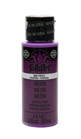 NEON PAINT PURPLE 2 OZ FOLK ART 2856