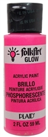 GLOW IN THE DARK PINK 2 OZ FOLK/ART K2871
