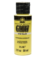 GLOW IN THE DARK YELLOW 2 OZ FOLK/ART K2873