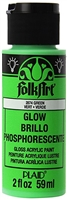 GLOW IN THE DARK GREEN 2 OZ FOLK/ART K2874