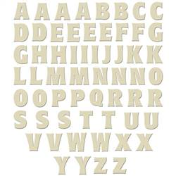 WOOD BOLD LETTERS 1-1/4 (60 PCS) 12363