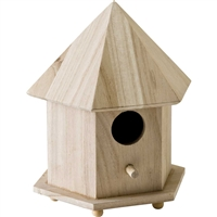 WOOD SURFACES - BIRD HOUSE GAZEBO 6.75x9.75x5.75 INCHES 12740E