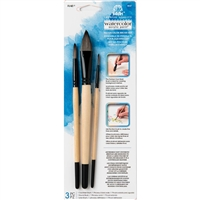 BRUSH SET FOLKART - 3PC WATERCOLOR SET 18137