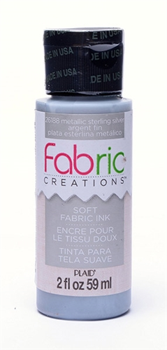 fabric paint creations metallic silver 2 oz 26188