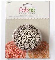 BLOCK PRINTING STAMPS LACE DOILY 27203