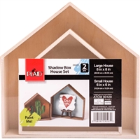 WOOD SURFACES - SHADOWBOX HOUSES 29507E