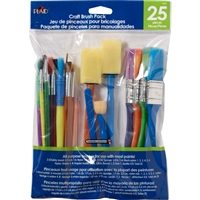 BRUSH SET PLAID - CRAFT BRUSH SET 25PC 44249